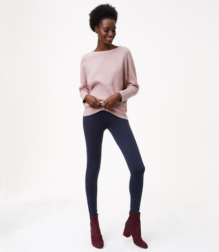 Petite Leggings in Seamed Ponte