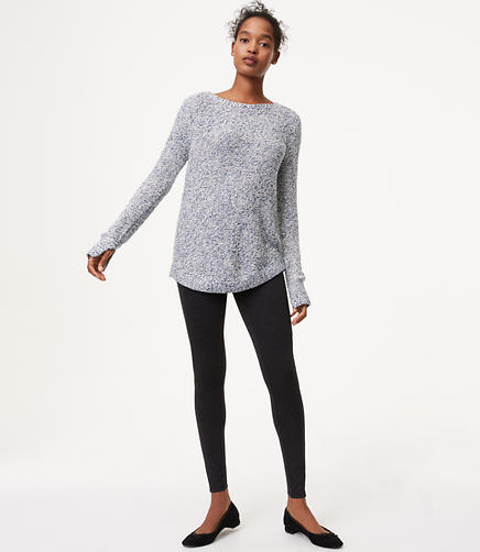 Image of Leggings in Heathered Seamed Ponte