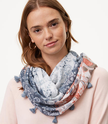 Image of Floral Patchwork Infinity Scarf