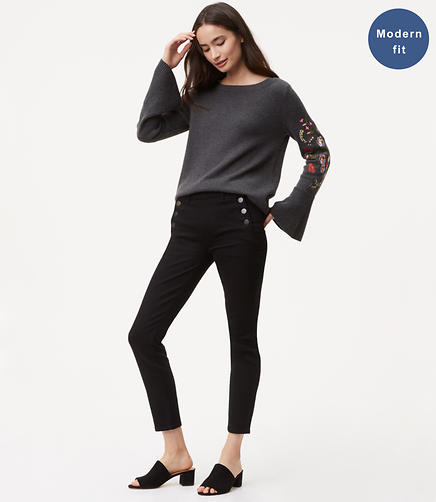 Modern Sailor Skinny Jeans in Black