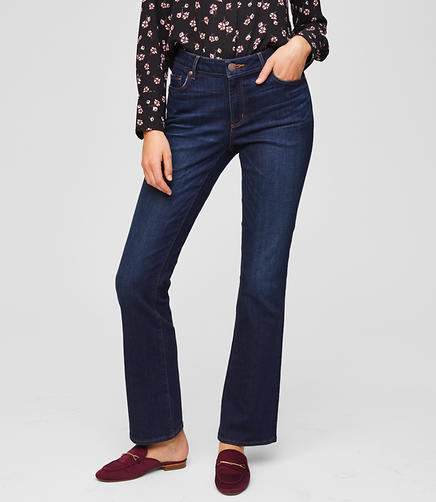 Tall Curvy Bootcut Jeans in Dark Indigo Wash