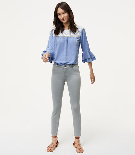Image of Petite Modern Skinny Jeans in Authentic Light Grey Wash