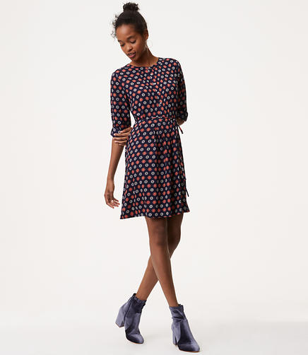 Tall Fall Mosaic Shirtdress