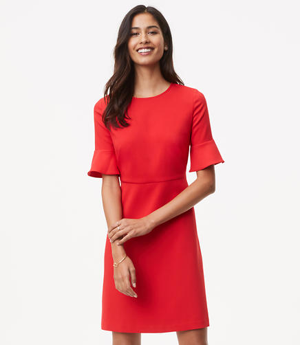 Image of Flounce Sleeve Flare Dress
