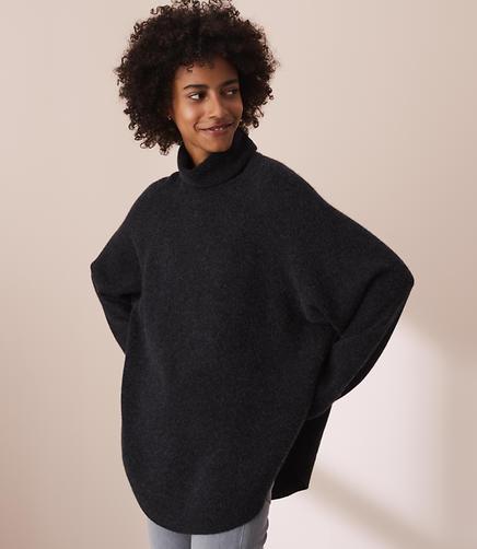 Lou & Grey Cashmere Poncho Sweater