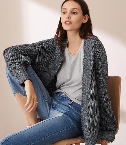 Lou & Grey Blouson Sleeve Cardigan