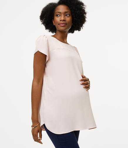 Maternity Bar Back Clean Tee