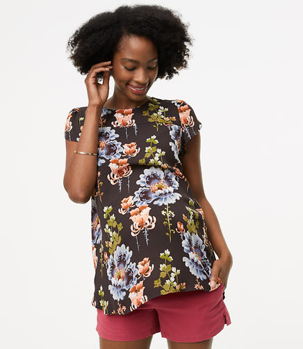 Maternity Night Blossom Bar Back Clean Tee