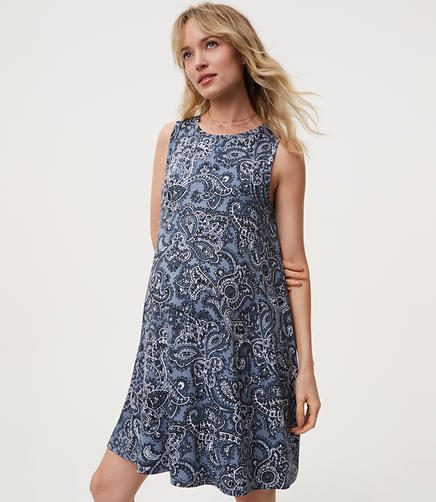 Maternity Paisley Swing Dress