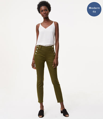 Modern Sailor Skinny Jeans in Rich Moss