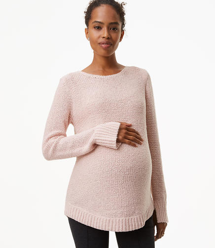 Maternity Marled Shirttail Sweater