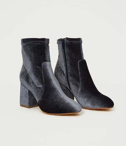 Velvet Stretch Booties