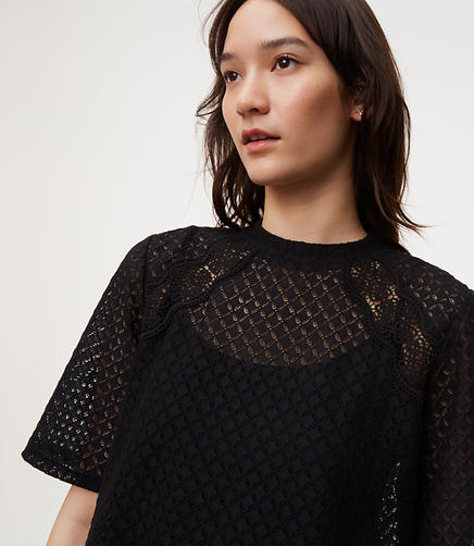 Geometric Lace Top
