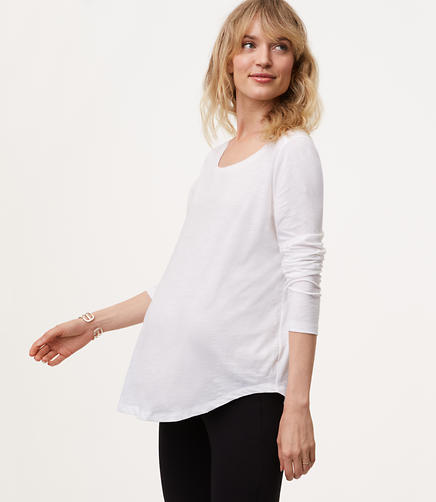 Maternity Long Sleeve Vintage Soft Tee