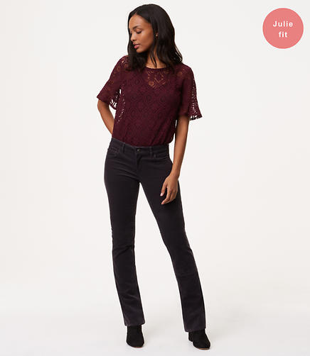 Image of Bootcut Corduroy Pants in Curvy