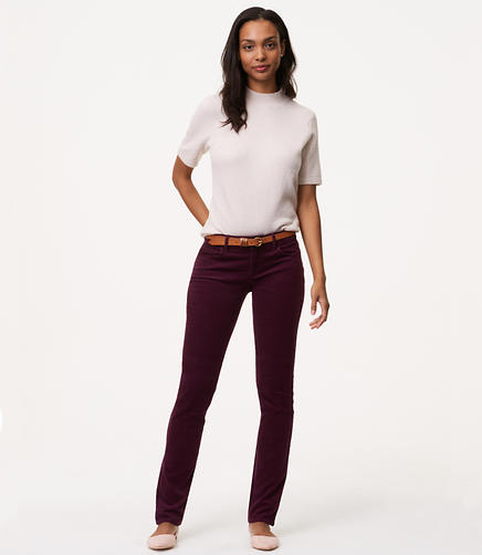 Straight Leg Corduroy Pants in Curvy