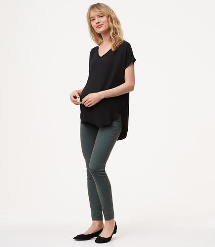 Maternity Sateen Five Pocket Leggings
