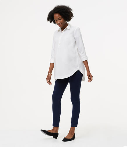 Image of Petite Maternity Skinny Sanded Sateen Chinos