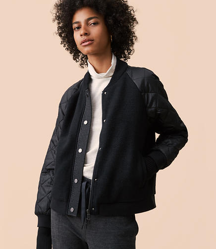 Lou & Grey Quiltmix Bomber Jacket