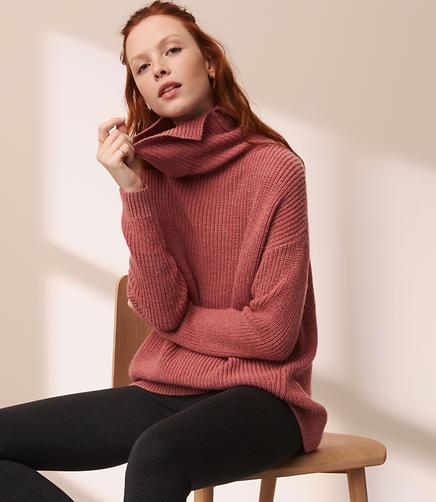 Lou & Grey Cutout Back Tunic Sweater