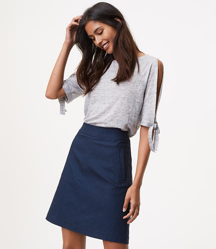 Image of Petite Chevron Pocket Skirt