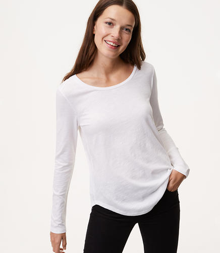 Petite Long Sleeve Vintage Soft Tee