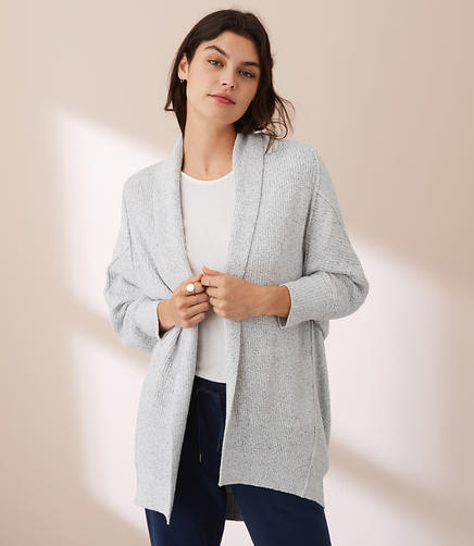 Lou & Grey Drop & Roll Cardigan