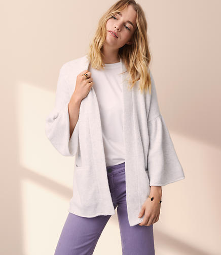 Lou & Grey Bell Sleeve Pocket Cardigan