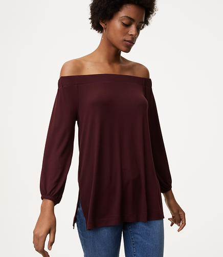 Off The Shoulder Tunic Tee