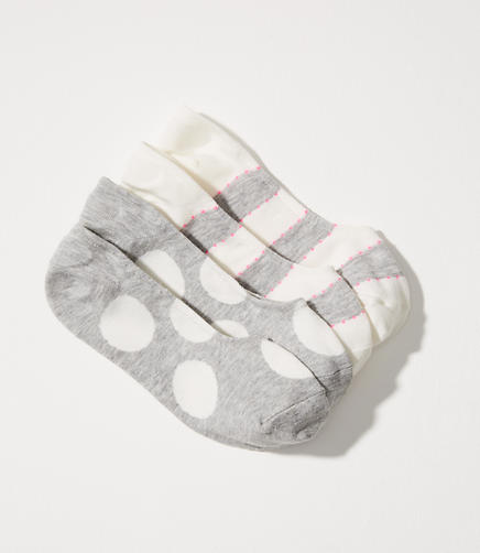 Dot & Stripe No Show Sock Set