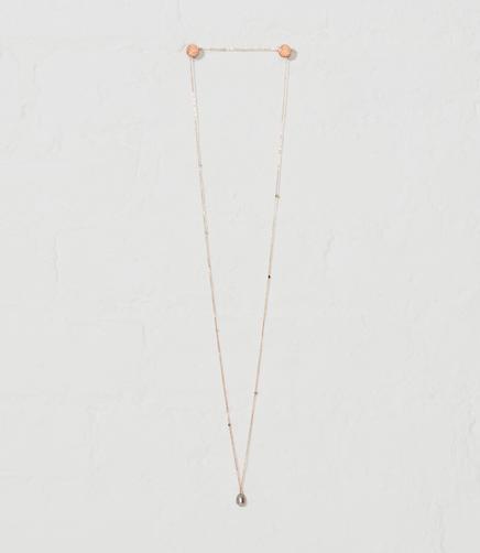 Image of Kozakh Long Crimp Pearl Necklace