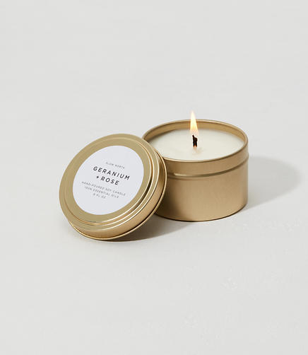Image of Slow North Geranium + Rose Travel Tin Candle