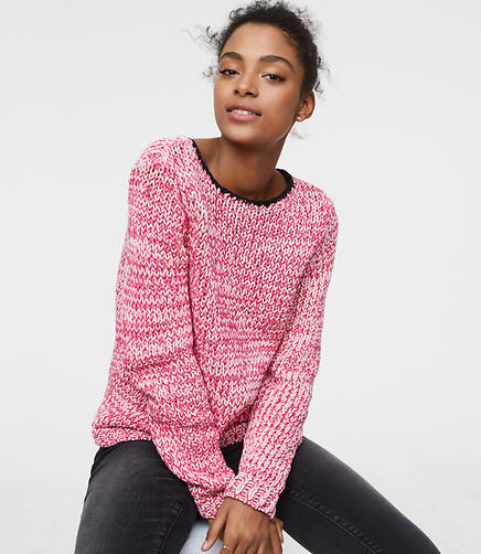 Marled Tipped Sweater