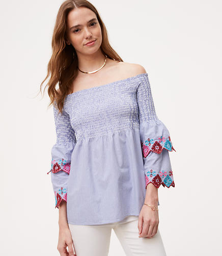 Image of Petite Fiesta Off The Shoulder Top