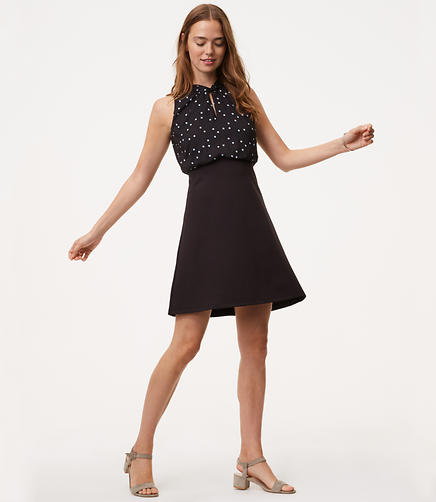 Image of Twist Dot Flare Dress
