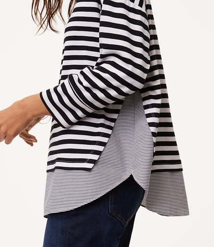 Striped Dolman Two In One Top
