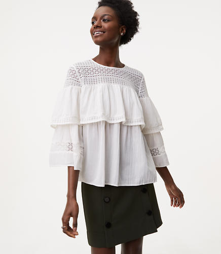 Image of Lacy Ruffle Blouse
