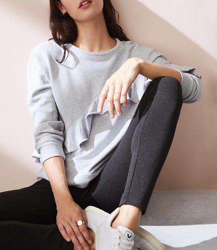 Petite Lou & Grey Herringbone Ponte Leggings