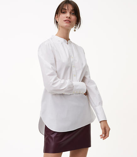 Image of Blouson Henley Tunic Shirt