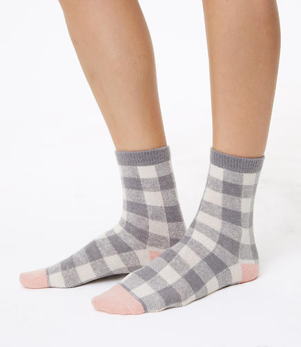 Plaid & Dot Crew Sock Gift Set