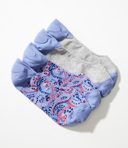 Paisley No Show Sock Set