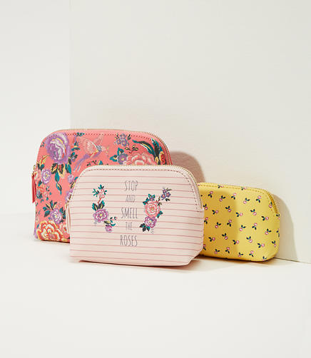 Stop And Smell The Roses Pouch Trio