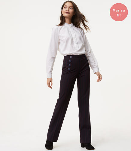 Tall Trousers in Sailor Stripe in Marisa Fit