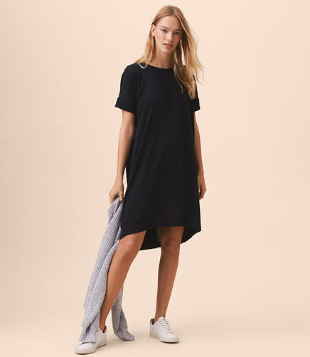 Lou & Grey Fluid French Terry Tee Dress