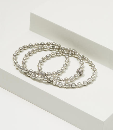 Image of Metallic Stretch Bracelet Set