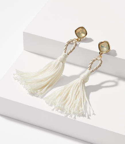 Image of Braided Tassel Statement Earrings