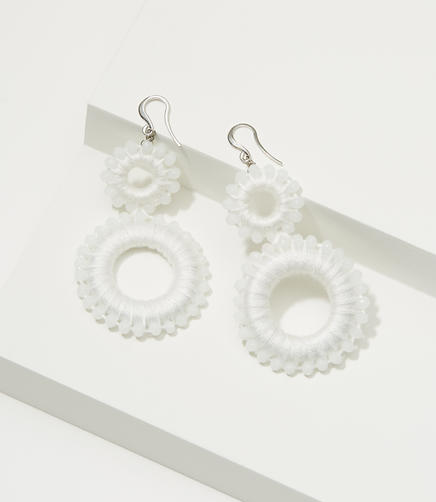 Image of Thread Wrapped Drop Earrings
