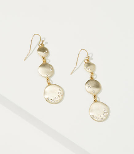Image of Pave Stacked Drop Earrings