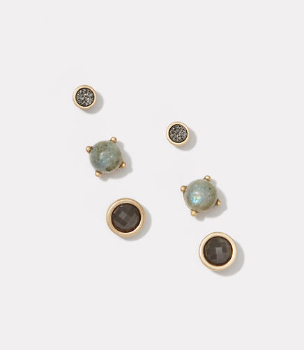 Image of Mixed Stone Stud Earring Set