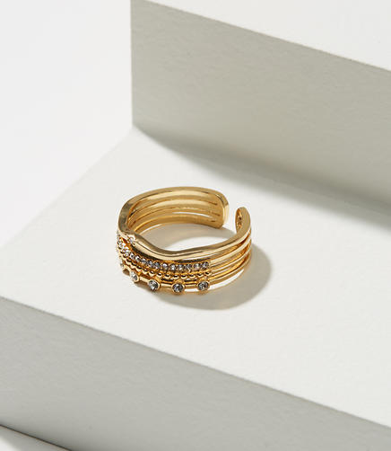 Pave Layered Ring